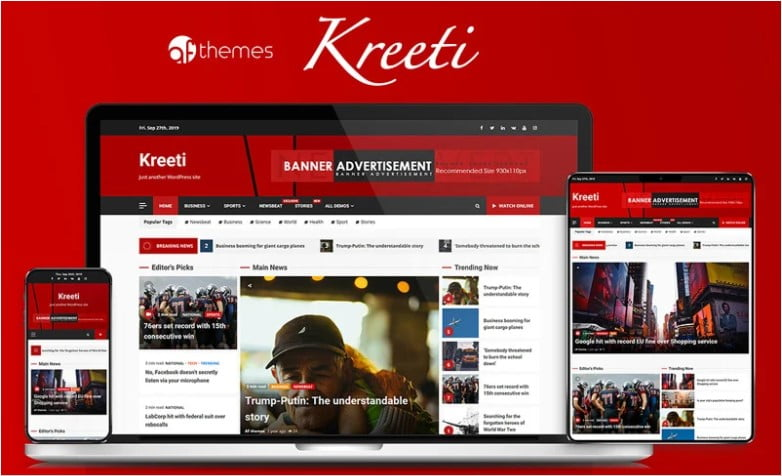 Kreeti - 41+ AMAZING WordPress Food Themes For Recipes [year]