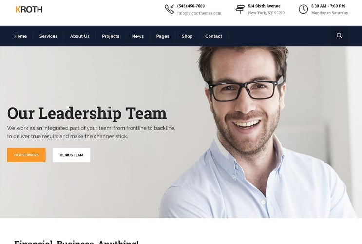 Kroth - 33+ TOP WordPress Consulting Themes [year]