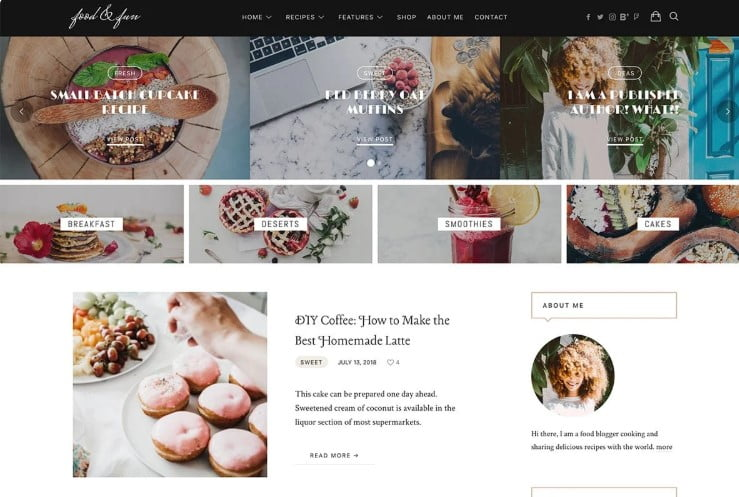 Lahanna - 41+ AMAZING WordPress Food Themes For Recipes [year]