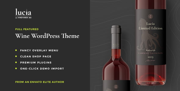 Lucia - 28+ NICE WordPress Wine Themes [year]