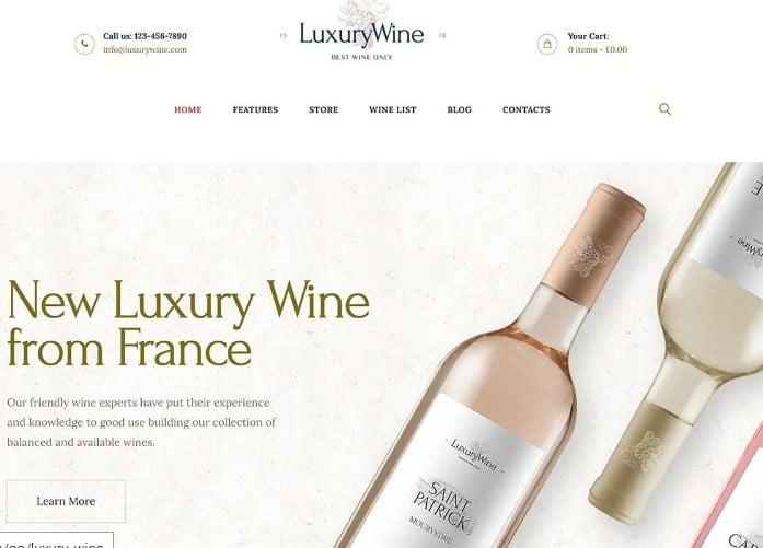 Luxury-Wine - 28+ NICE WordPress Wine Themes [year]