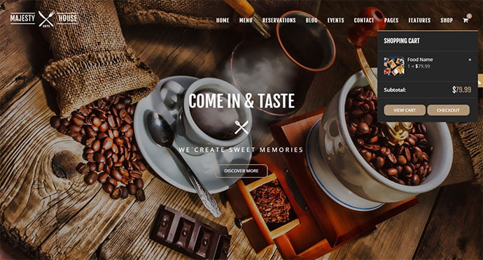 Majesty - 33+ TOP Food & Drink WordPress E-Commerce Themes [year]