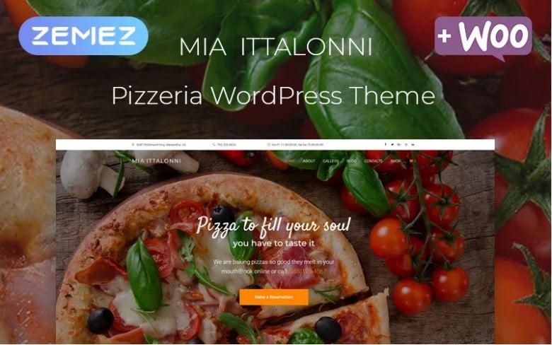 Mia-Ittalonni - 41+ AMAZING WordPress Food Themes For Recipes [year]