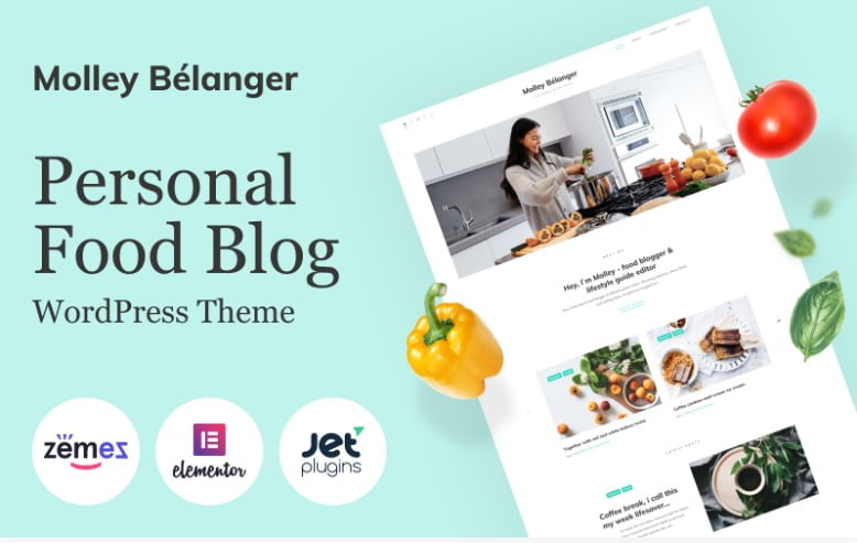 Molley-Belanger - 41+ AMAZING WordPress Food Themes For Recipes [year]