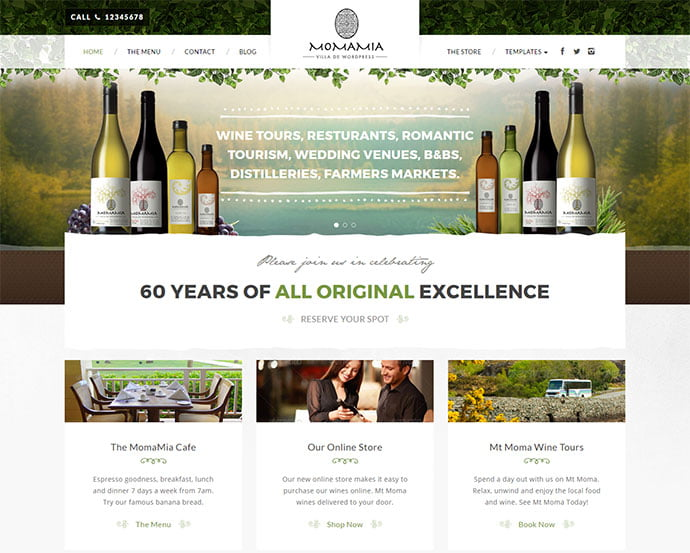 Momamia - 33+ TOP Food & Drink WordPress E-Commerce Themes [year]