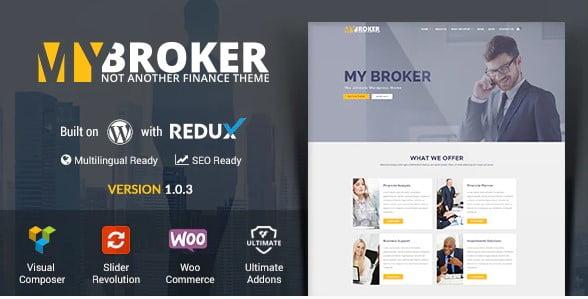 My-Broker - 33+ BEST WordPress Financial Themes [year]