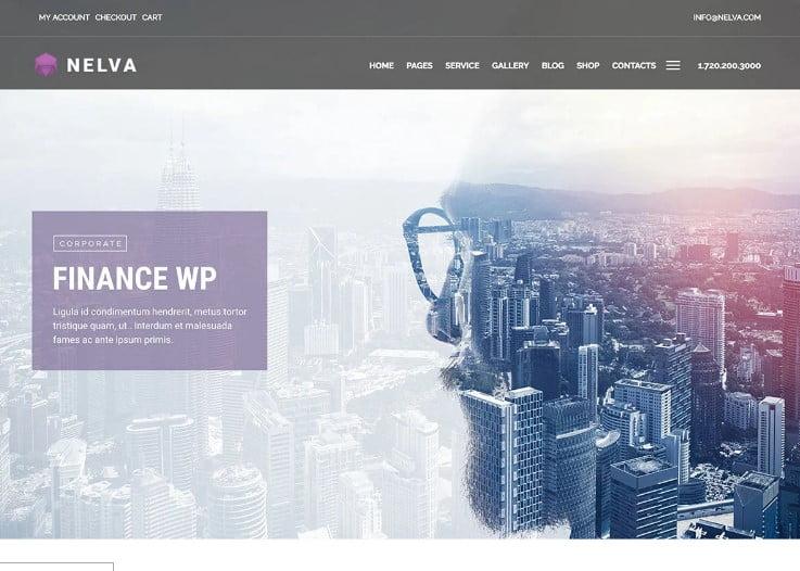 Nelva - 33+ BEST WordPress Financial Themes [year]