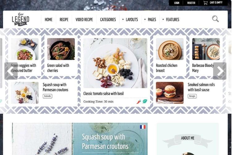 Neptune - 41+ AMAZING WordPress Food Themes For Recipes [year]