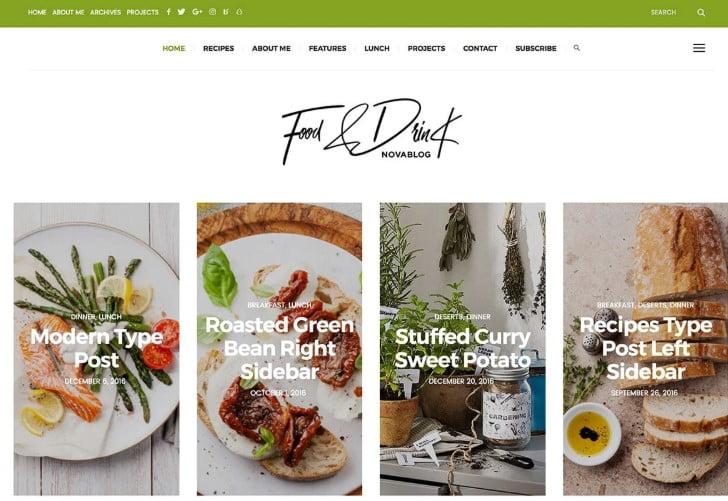 NovaBlog - 41+ AMAZING WordPress Food Themes For Recipes [year]