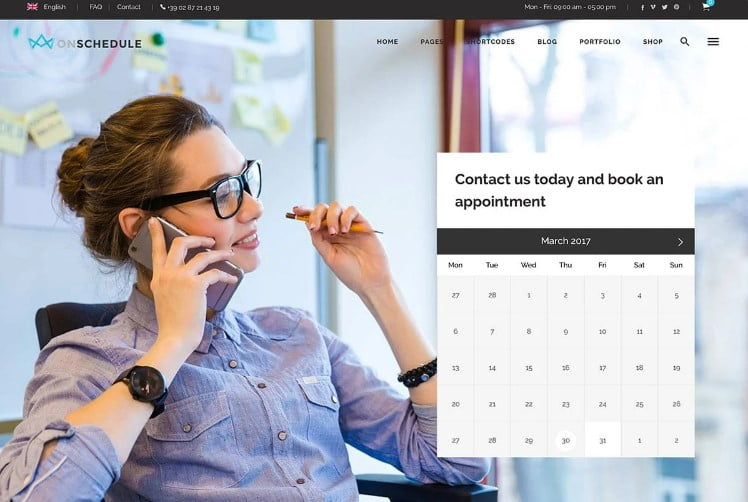 OnSchedule - 33+ TOP WordPress Consulting Themes [year]