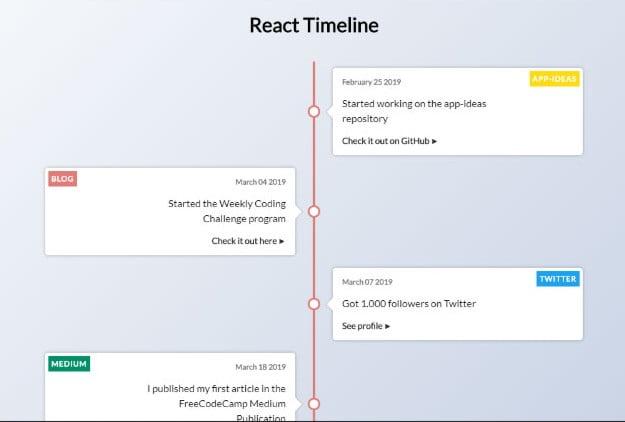 React-Timeline - 33+ BEST FREE CSS & Javascript Timeline IDEA [year]