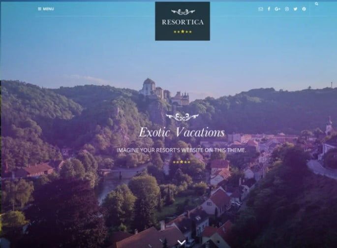 Resortica-Lite - 25+ GREAT Free WordPress Hotel Themes [year]