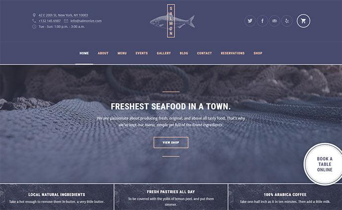 Salmon - 33+ TOP Food & Drink WordPress E-Commerce Themes [year]