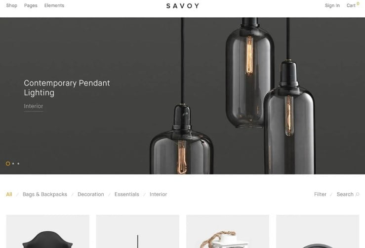 Savoy - 47+ AWESOME WordPress Woocommerce Themes [year]