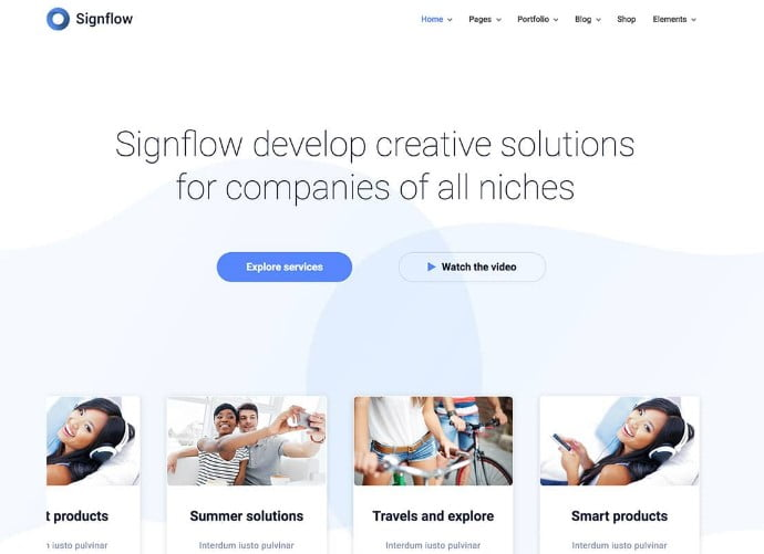 Signflow - 29+ GREAT Startups WordPress Themes [year]
