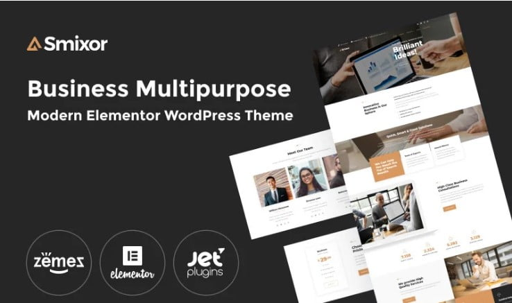 Smixor-1 - 33+ TOP WordPress Consulting Themes [year]