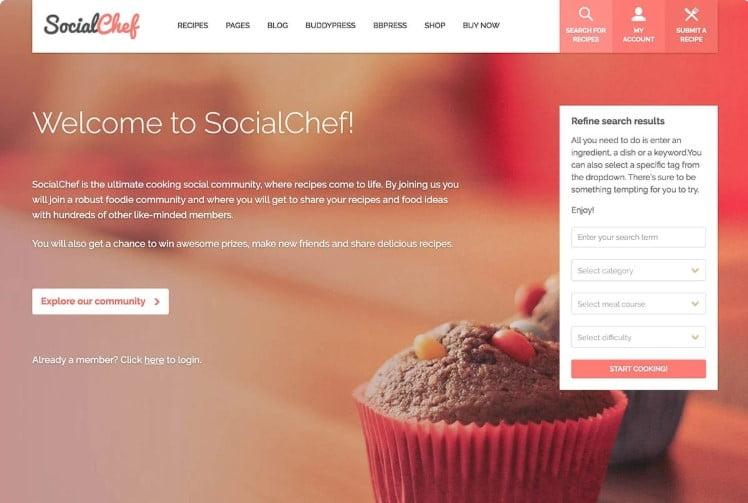 SocialChef - 41+ AMAZING WordPress Food Themes For Recipes [year]