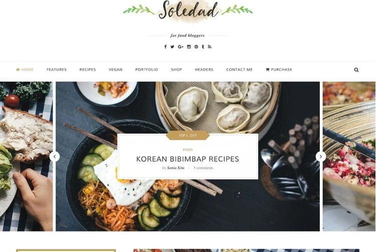 Soledad - 41+ AMAZING WordPress Food Themes For Recipes [year]