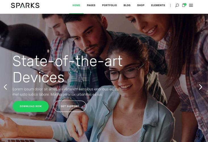 Sparks - 29+ GREAT Startups WordPress Themes [year]