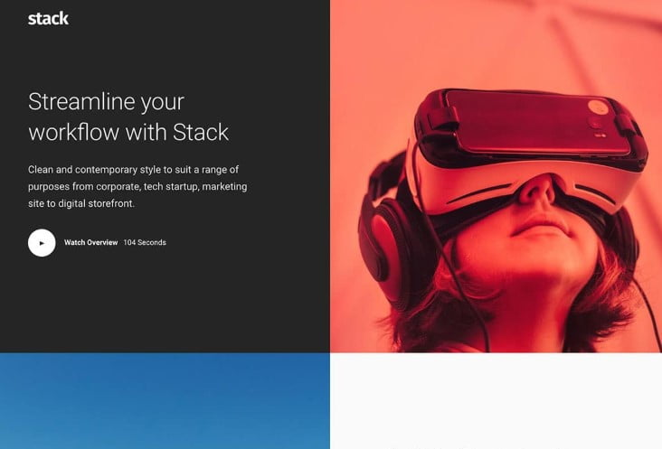 Stack - 29+ GREAT Startups WordPress Themes [year]