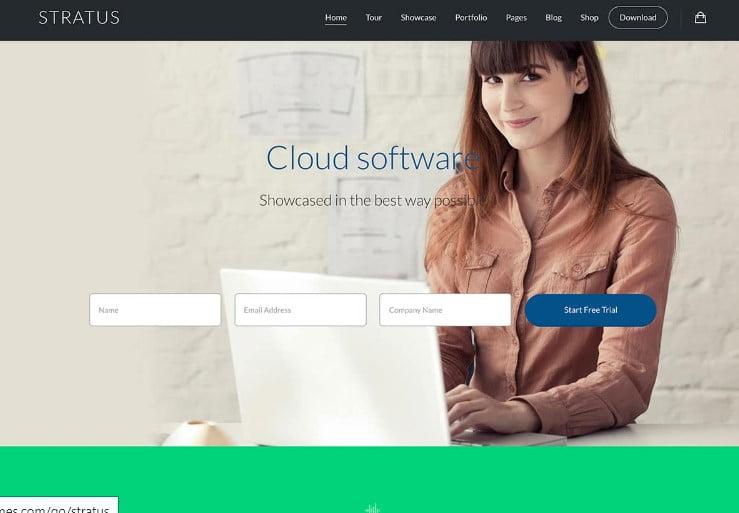 Stratus - 29+ GREAT Startups WordPress Themes [year]