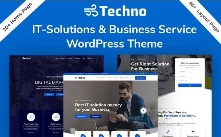 Techno - 29+ GREAT Startups WordPress Themes [year]