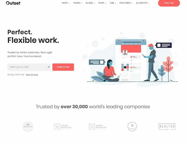 The-Outset - 29+ GREAT Startups WordPress Themes [year]