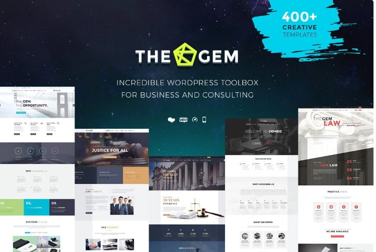 TheGem-1 - 33+ TOP WordPress Consulting Themes [year]