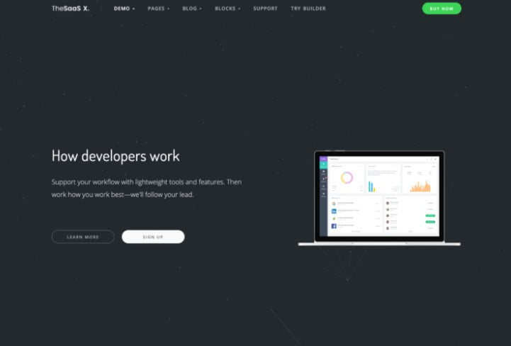 TheSaas-X - 29+ GREAT Startups WordPress Themes [year]