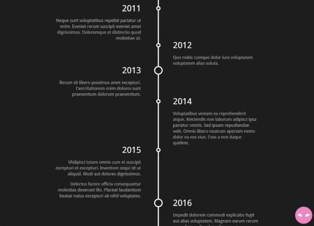 Timelin - 33+ BEST FREE CSS & Javascript Timeline IDEA [year]