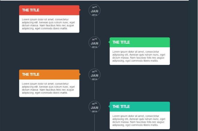 Timeline - 33+ BEST FREE CSS & Javascript Timeline IDEA [year]