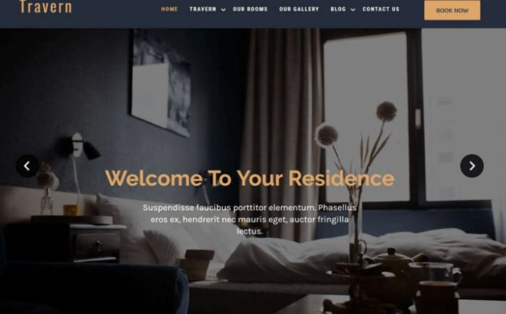 Travern - 25+ GREAT Free WordPress Hotel Themes [year]