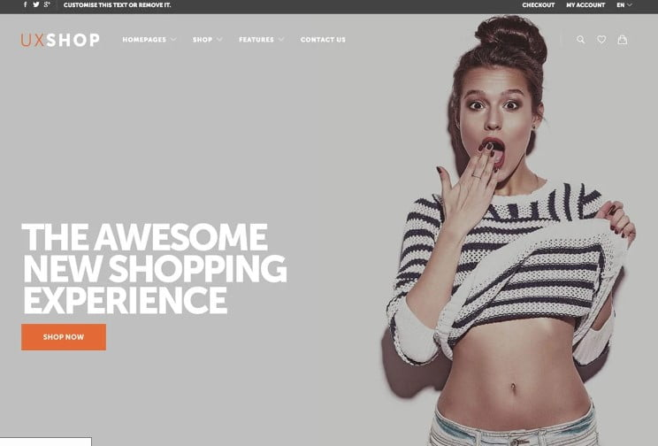 UX-Shop - 47+ AWESOME WordPress Woocommerce Themes [year]