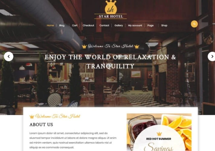 VW-Hotel - 25+ GREAT Free WordPress Hotel Themes [year]