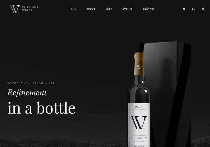 Villenoir - 28+ NICE WordPress Wine Themes [year]