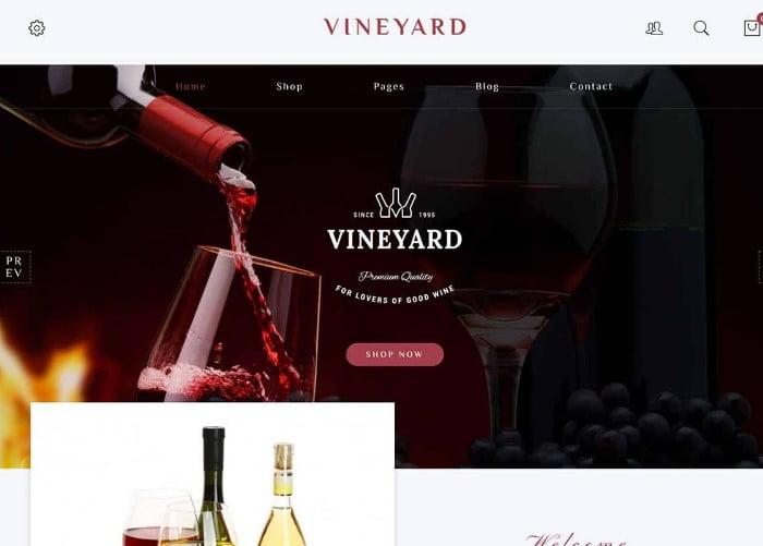 Vineyard - 28+ NICE WordPress Wine Themes [year]