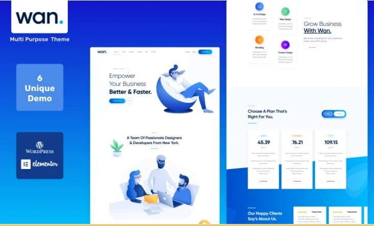 Wan - 29+ GREAT Startups WordPress Themes [year]
