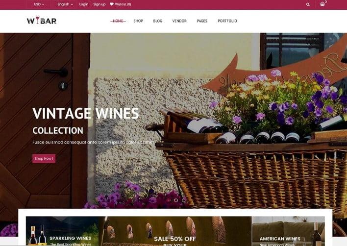 Wibar - 28+ NICE WordPress Wine Themes [year]