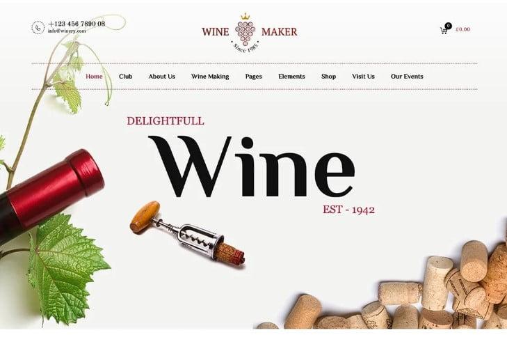 Wine-Maker - 28+ NICE WordPress Wine Themes [year]