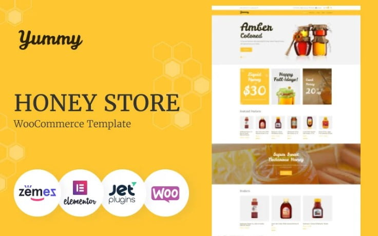 Yummy - 47+ AWESOME WordPress Woocommerce Themes [year]