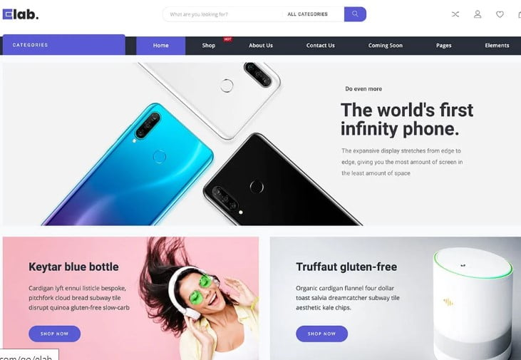 eLab - 47+ AWESOME WordPress Woocommerce Themes [year]