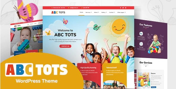 Abc-Tots - 33+ TOP WordPress Kindergarten Themes [year]