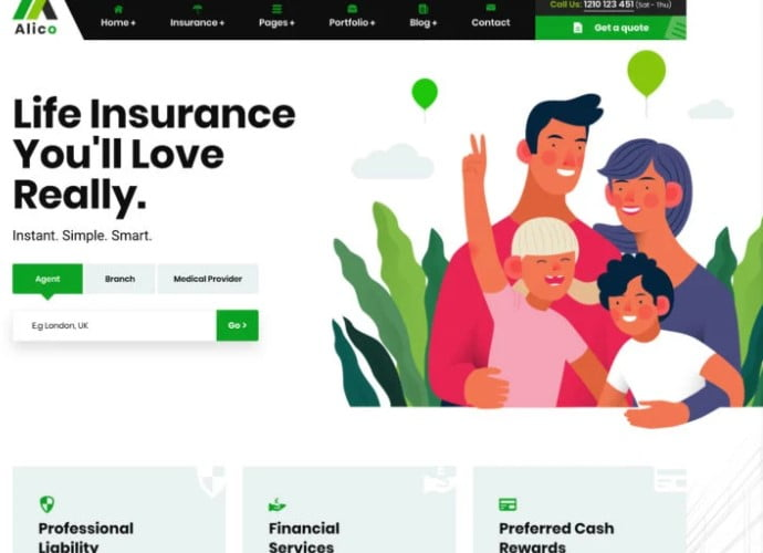 Alic - 36+ BEST WordPress Insurance Themes [year]