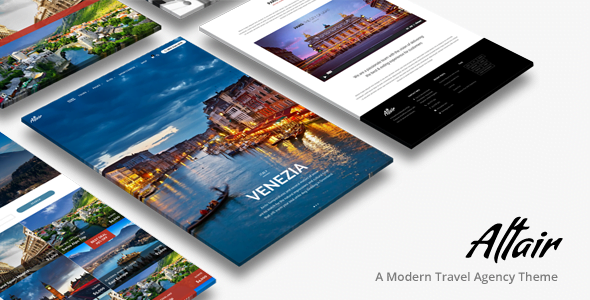 Altair - 33+ BEST FREE WordPress Travel Themes [year]