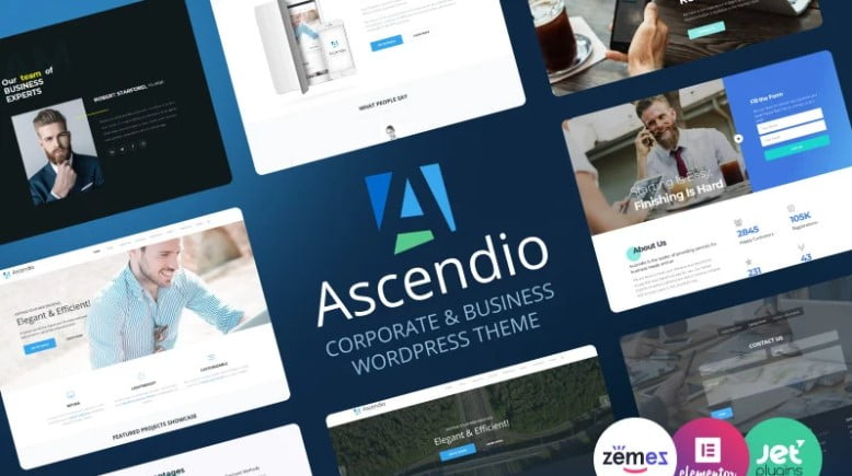 Ascendio - 36+ BEST WordPress Insurance Themes [year]