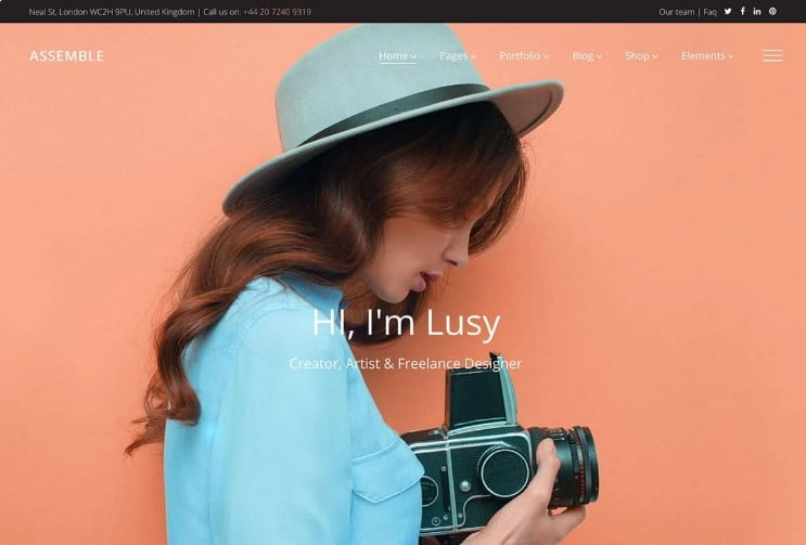 Assemble - 37+ GREAT Freelancers WordPress Themes [year]