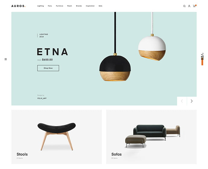 Auros - 40+ NICE WordPress Furniture & Interior Ecommerce Themes [year]