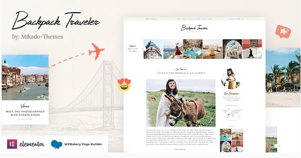 Backpack-Traveler - 33+ BEST FREE WordPress Travel Themes [year]