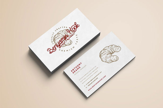 Bakery-Minimal - 53+ TOP PSD Business Card Designs [year]