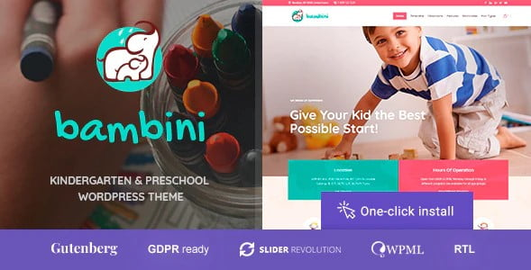 Bambini - 33+ TOP WordPress Kindergarten Themes [year]